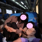 インドネシア鉄道の車内