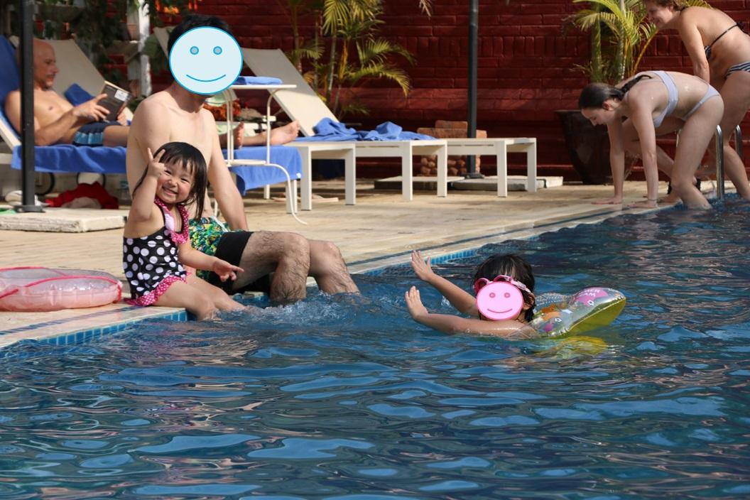 ズフリティホテルのプール