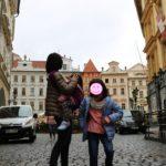 プラハ旧市街にて