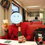 ドレスデン行きの列車内食堂車